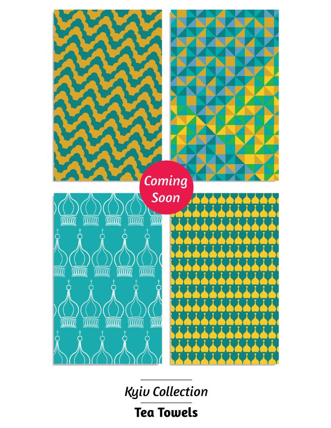 Tea towel designs Robert Bothma Design
